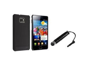 Insten Ultra-thin Snap-on Black Rear Case + Stylus Compatible With Samsung Galaxy S II/ S2