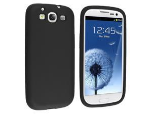 Insten Silicone Skin Case Cover for Samsung Galaxy S3  S III, Black