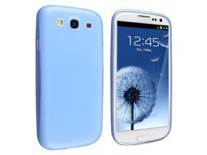 Insten Slim Snap-on Case Cover compatible with Samsung Galaxy S III/ S3 , Clear Blue