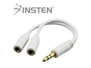 Insten 2x White Music Splitter for Samsung Galaxy Note Nexus Attain
