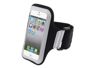 Insten White / Black Running Sport Armband Case Cover + Clear Screen Protector + Touch Screen Stylus Pen Compatible with ...
