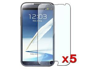 Insten 5 Packs Reusable Screen Protector Compatible with Samsung Galaxy Note 2 N7100