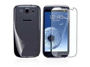 Insten 2 x Full-body Reusable Screen Protector Compatible with Samsung Galaxy S III / S3 / i9300