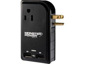 Monster MBL MP OTG300 TB EFS 3 Outlets with 2 USB Charging for Smartphones, Tablets, and USB-charged devices