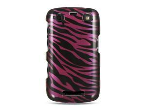 Luxmo Plum Plum with Black Zebra Design Case & Covers BlackBerry Curve Apollo/9350/9360
