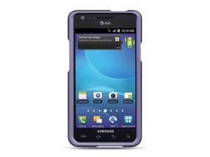 Samsung Galaxy S II/Attain I777 Purple Crystal Rubberized Case