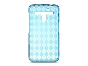 LG Revolution/Esteem VS910 Blue Checker Design Crystal Skin