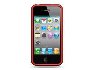 Apple iPhone 4S/iPhone 4 Red Crystal Rubberized Case