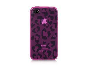 Luxmo Hot Pink Hot Pink Leopard Design Case & Covers Apple iPhone 4S/iPhone 4