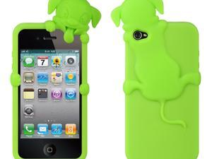Apple iPhone 4S/iPhone 4 Clear Dog Design High-End Skin Case