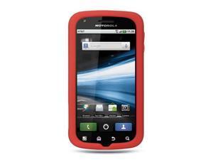 Motorola Atrix MB860 Red Silicone Skin Case