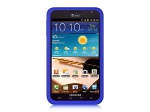 Samsung Galaxy Note I717 Blue Silicone Skin Case