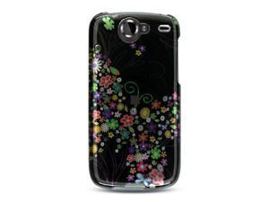 Google Nexus 1 Black with Rainbow Garden Design Crystal Case