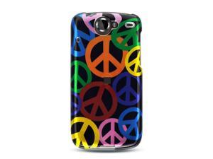 Luxmo Black Black with Rainbow Peace Sign Design Case & Covers Google Nexus 1