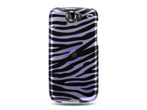 Google Nexus 1 Lavender with Black Zebra Design Crystal Case