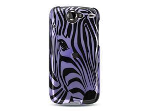 Google Nexus 1 Purple Zebra Face Design Crystal Case