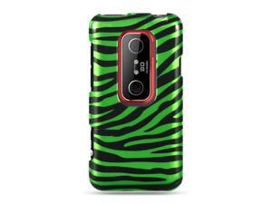 HTC EVO 3D Green Zebra Design Crystal Case