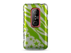 Luxmo Green Green with Zebra and Star Design Case & Covers HTC EVO 3D