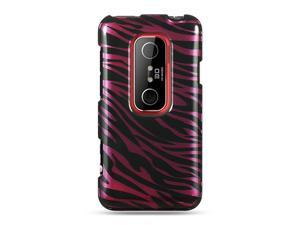 HTC EVO 3D Plum Zebra Design Crystal Case