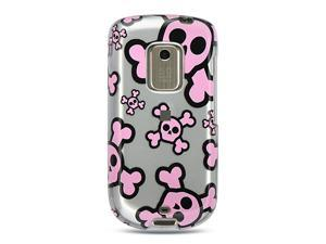 HTC Hero Silver with Pink Skull Design Crystal Case