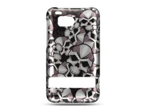 HTC Thunderbolt/HTC Incredible HD/HTC 6400 Black Skull Design Crystal Case