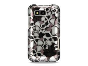 Motorola Defy Black Skull Design Crystal Case