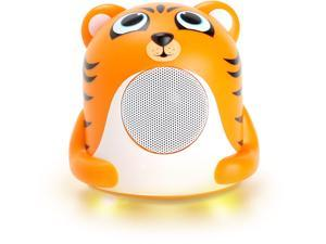 GOgroove Tiger Kids Bed Time Speaker with Dynamic Driver , Portable Design & Colorful LED Base – Works With Apple iPod , Samsung Galaxy Player , Lonve & More MP3 Players