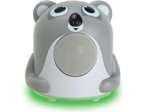 GOgroove Koala Bedside Speaker with LED Glow , Cute Animal Design & 3.5mm Cable to Connect to Phones