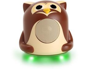 GOgroove Owl Portable Night Light Speaker with LED Light-up Base , Cute Animal Design & 3.5mm Cable – Perfect for Soothing Babies , Infants & Children of All Ages