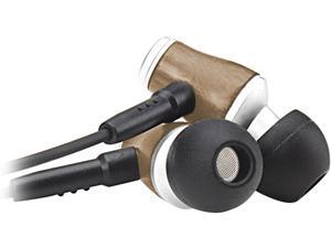 GOgroove AudiOHM WD In-Ear Walnut Wood Headphones w/ Hands-Free Microphone, Enhanced Bass Resonance, and Hemp Carrying Case for Phones, Tablets, MP3 Players & More (Light Finish)