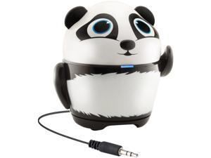 GOgroove Portable Stereo Speaker Music Player with Panda Animal Design & Built-in 3.5mm Cord - Works with Samsung Galaxy Tab 3 Lite , LeapFrog LeapPad Ultra , Dragon Touch Y88X & More Kids Tablets
