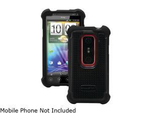 Ballistic Case Black / Gray Shell Gel (SG) Series Case For HTC Evo 3D SA-0699-M315