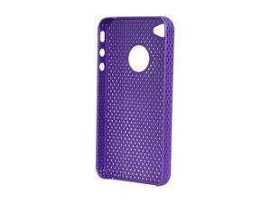 MEElectronics Purple Perforated Mesh Rubberized Hard Case for iPhone 4 RUBC-IPH4S-PMESH-PP