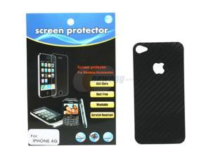 MEElectronics Black Vinyl Carbon Fiber Decal for iPhone 4 STIC-IP4S-CARVNYL-BK