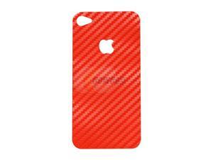 MEElectronics Red Vinyl Carbon Fiber Decal for iPhone 4 STIC-IP4S-CARVNYL-RD