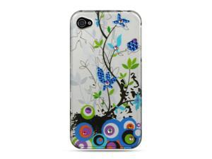 Apple iPhone 4S/iPhone 4 Silver Spring Flower Design Spot Diamond Case