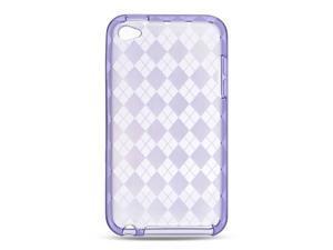 Luxmo Purple Purple Checker Design Case & Covers Apple iPod Touch 4