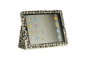 Luxmo White White Leopard Case & Covers Apple iPad 3/The New iPad/iPad 2