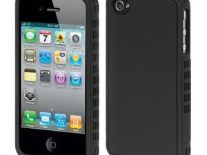 Apple iPhone 4S/iPhone 4 Black Border with Black Back Platinum Collection Fusion Series