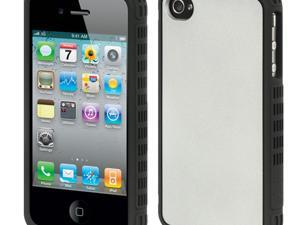 Apple iPhone 4S/iPhone 4 Black Border with Silver Back Platinum Collection Fusion Series