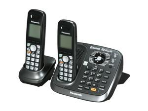 Panasonic KX-TG6582T Digital Cordless Phone with 2 Handsets and Bluetooth Connectivity