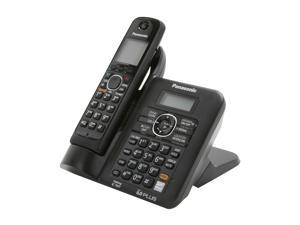 Panasonic KX-TG6641B 1.9 GHz Digital DECT 6.0 1X Handsets Cordless Phones with Answering Machine