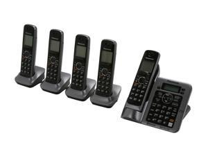 Panasonic KX-TG7645M 1.9 GHz Digital DECT 6.0 Link to Cell via Bluetooth Cordless Phone with Integrated Answering Machine ...