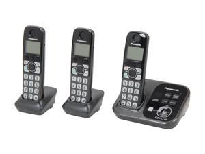 Panasonic KX-TG4753B 1.9 GHz Digital DECT 6.0 3X Handsets Cordless Phones with Range Booster and Answering Machine