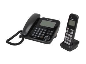 Panasonic KX-TG4771B 1.9 GHz Digital DECT 6.0 1X Handsets Cordless Phones Integrated Answering Machine
