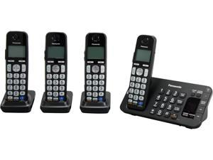 Panasonic KX-TGE244B 1.9 GHz DECT 6.0 4X Handsets Expandable Digital Cordless Answering System with 4 Handsets Integrated Answering Machine