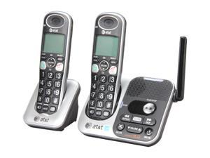 AT&T TL32200 1.9 GHz Digital DECT 6.0 2X Handsets Big Button Dual Handset Answering System with Large LCD and Slow Playback