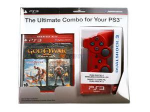 SONY Dual Shock 3 Red Controller w/God of War Collection