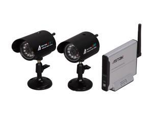 Astak CM-818C2 Wireless Surveillance Kit with 2 Camera+1 Receiver