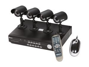 Swann 4 Camera+4 Channel 500GB DVR with Remote Web/Mobile Phone Access (SWA43-D2C5)